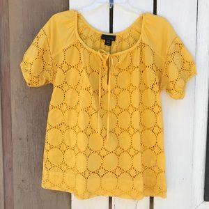 Apostrophe peasant blouse